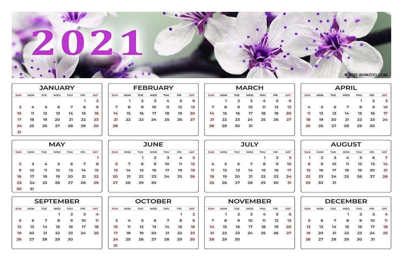 2021 Calendar At A Glance 11×17 | Month Calendar Printable