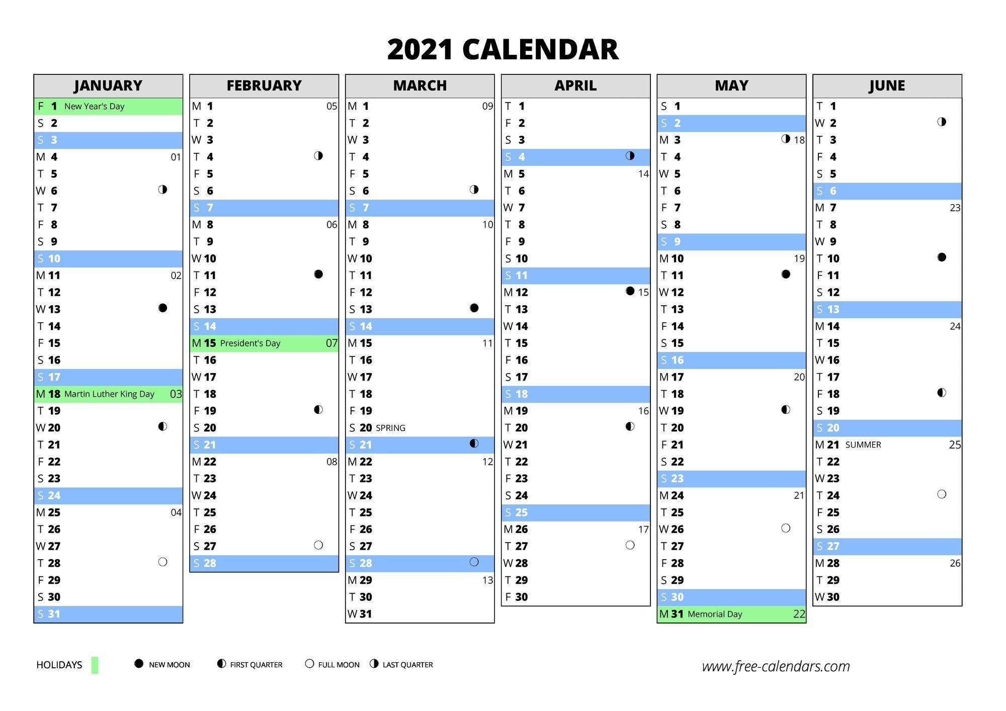 2021 calendar ≡ free calendars
