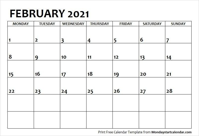 2021 Calendar February Printable | Calvert Giving