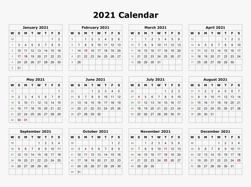 2021 Calendar Printable Printable Calendar