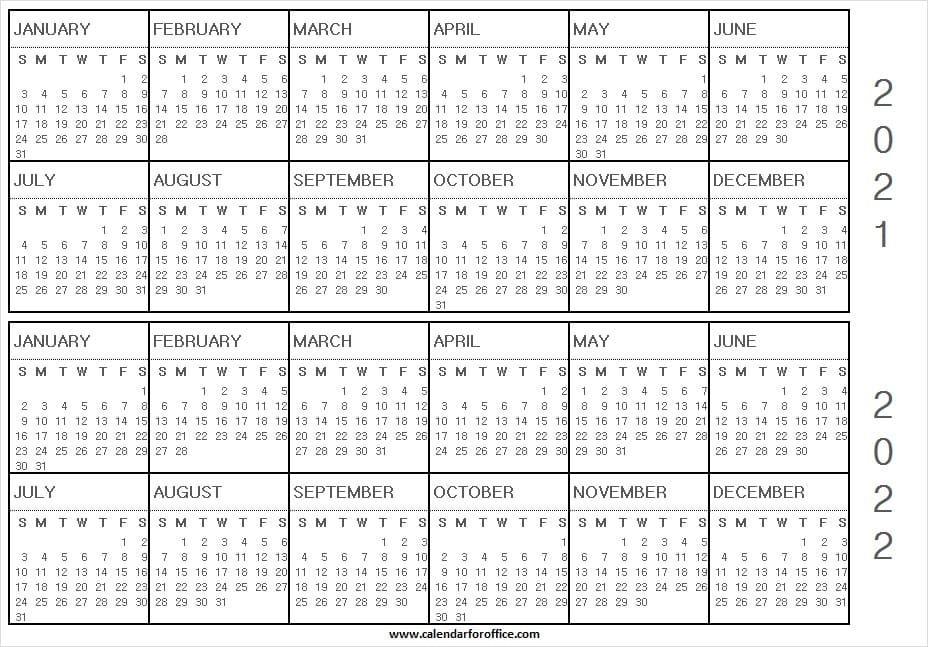 2021 calendar templates editableword : print january