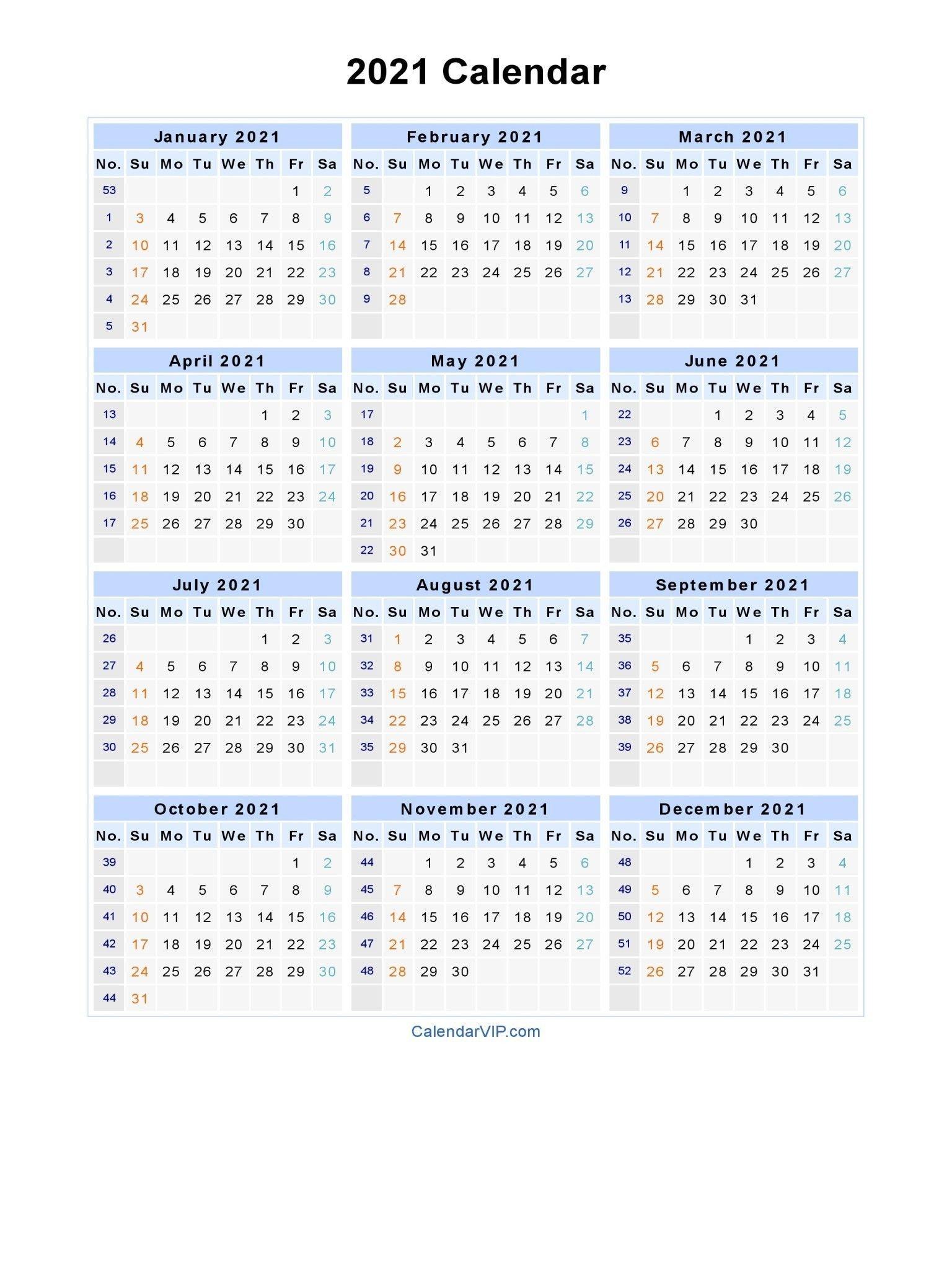 2021 calendar with week numbers excel full encouraged in