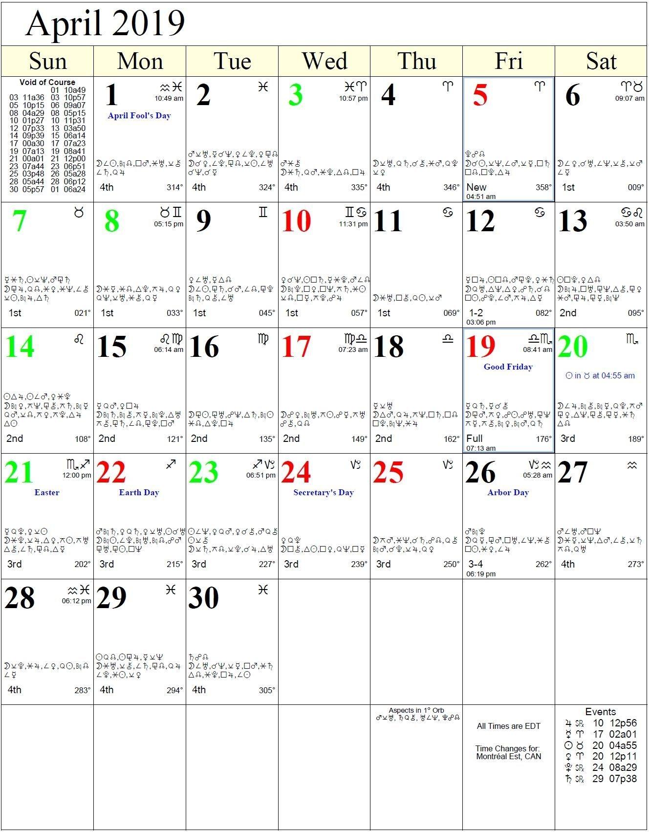 2021 Calendar With Zodiac Signs | Calendar Printables Free