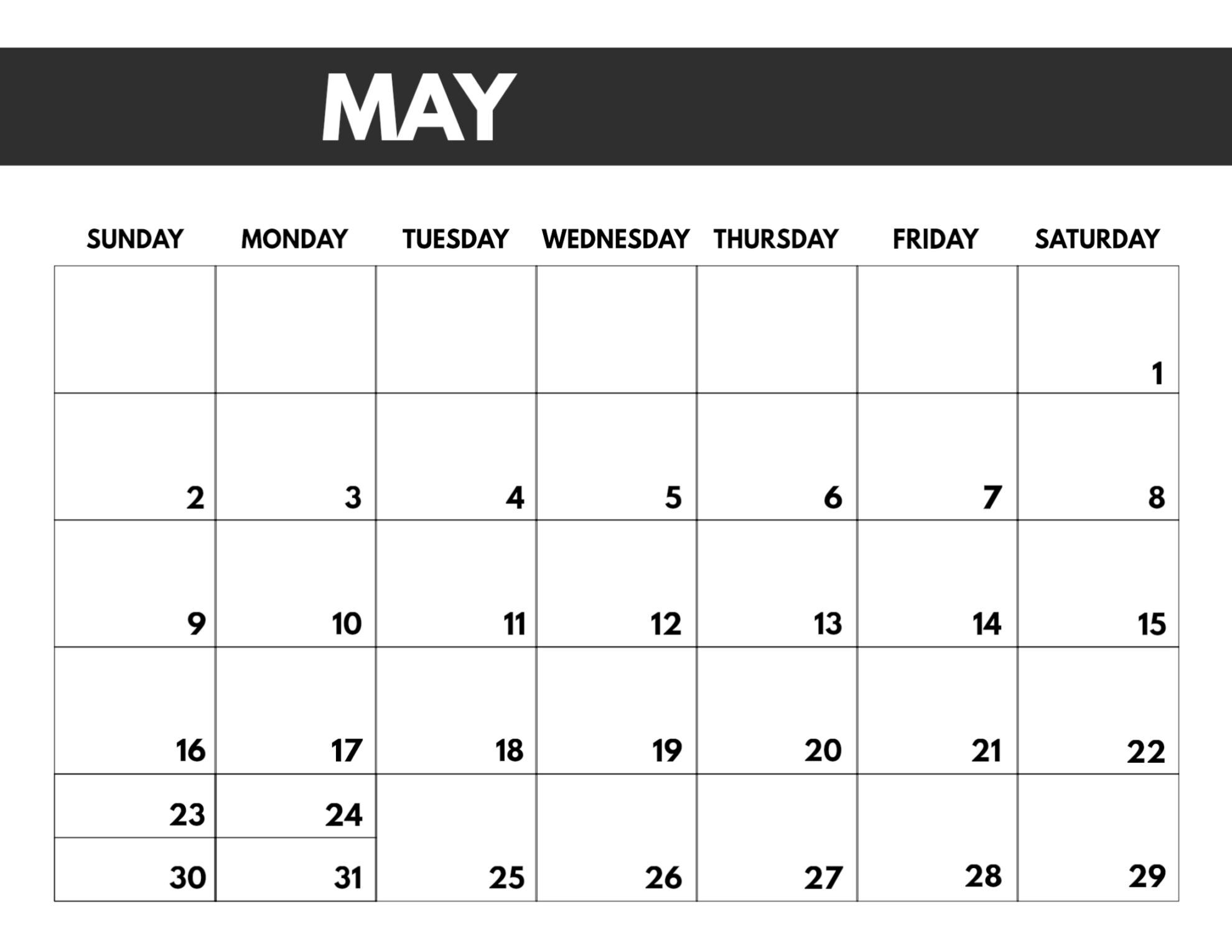 2021 Free Monthly Calendar Templates Paper Trail Design 1