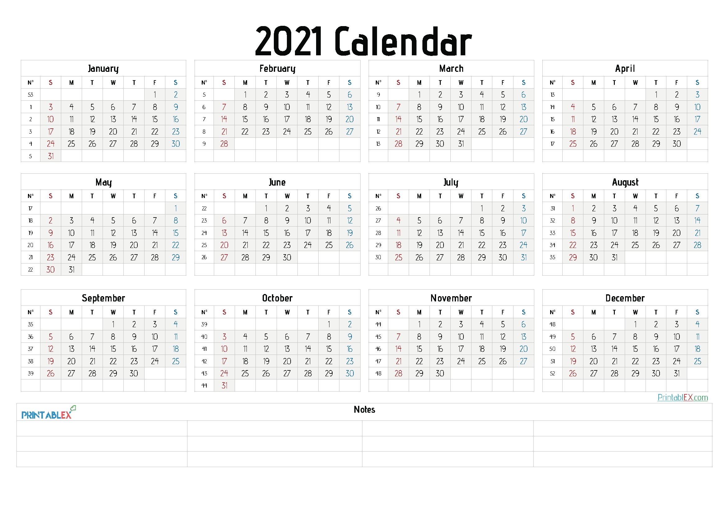 2021 Free Yearly Calendar Template Word 6 Templates Free