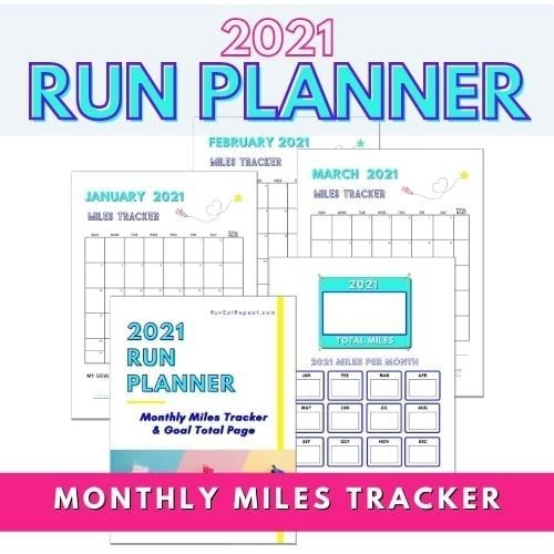 2021 Monthly Miles Tracker Free Printable Planner For