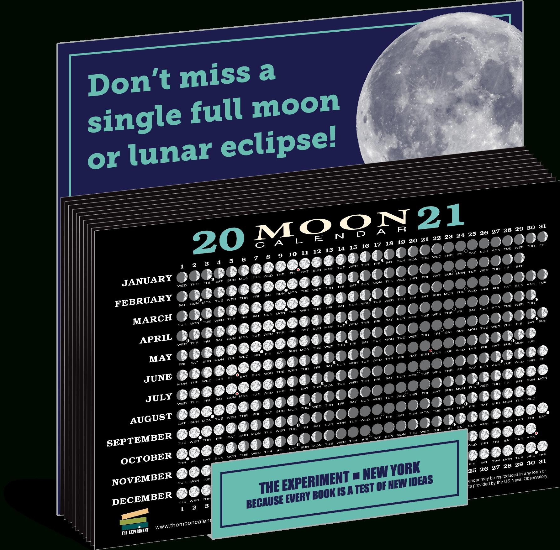 2021 Moon Calendar Card (40 Pack) | The Experiment