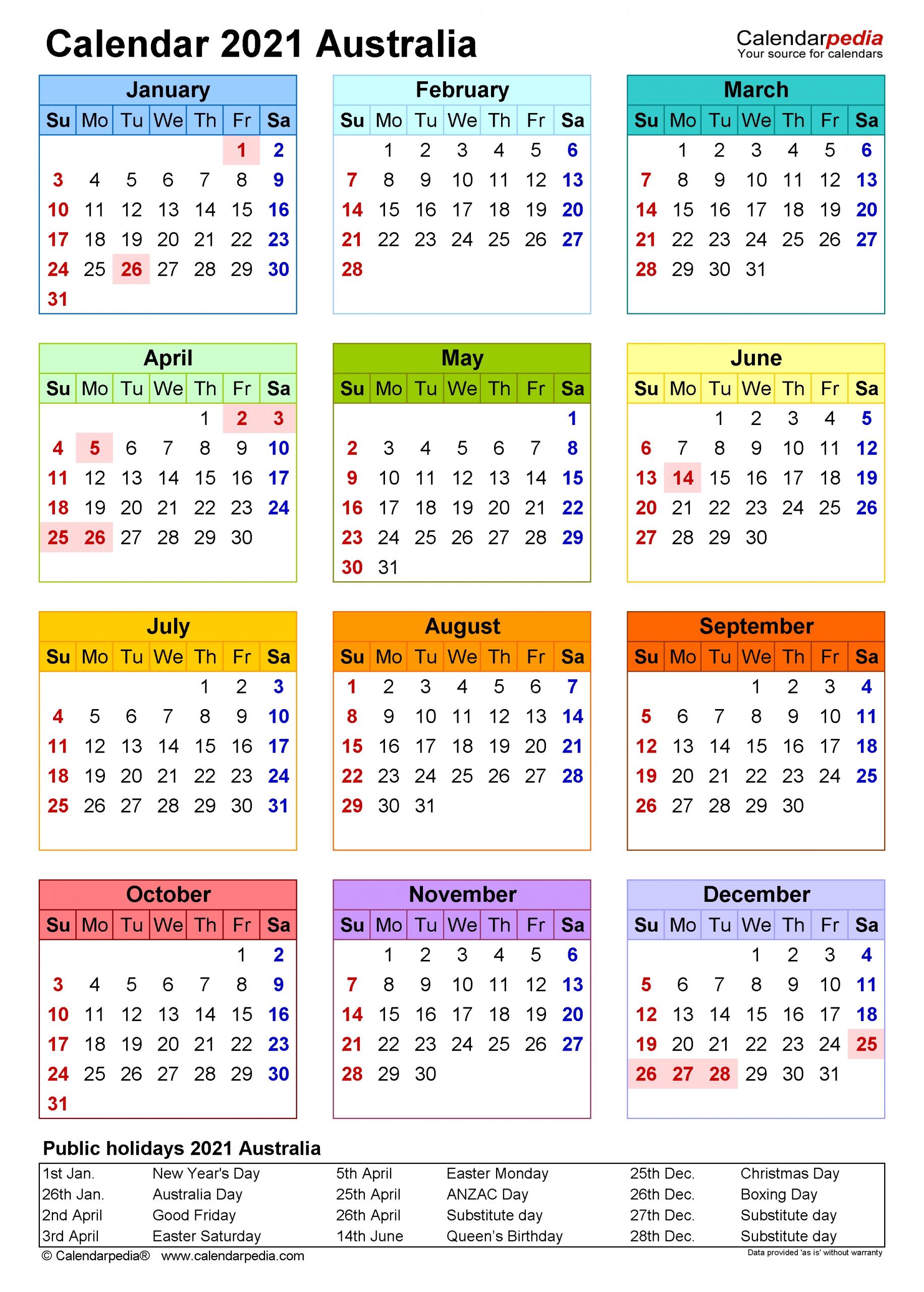 2021 Printable Calendar Portrait | Free Printable Calendar