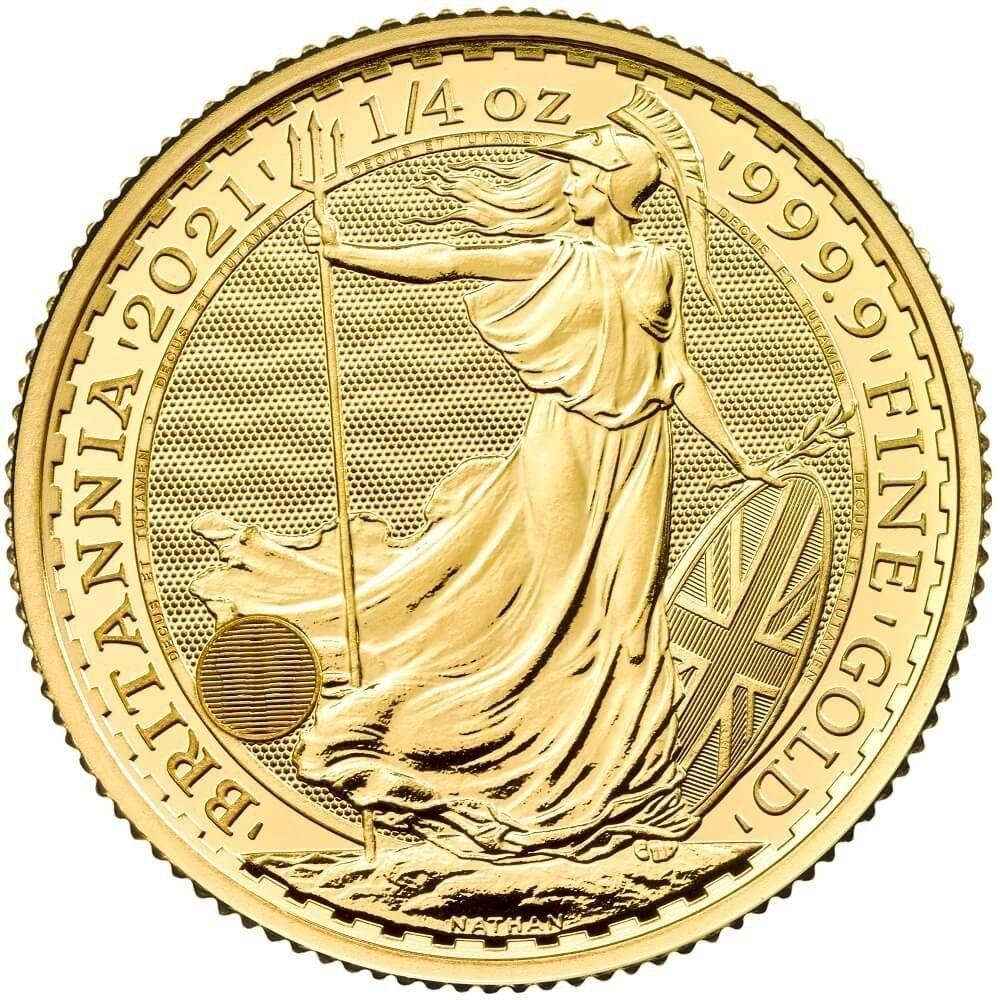 2021 Quarter Ounce Britannia Gold Coin | Bullionbypost
