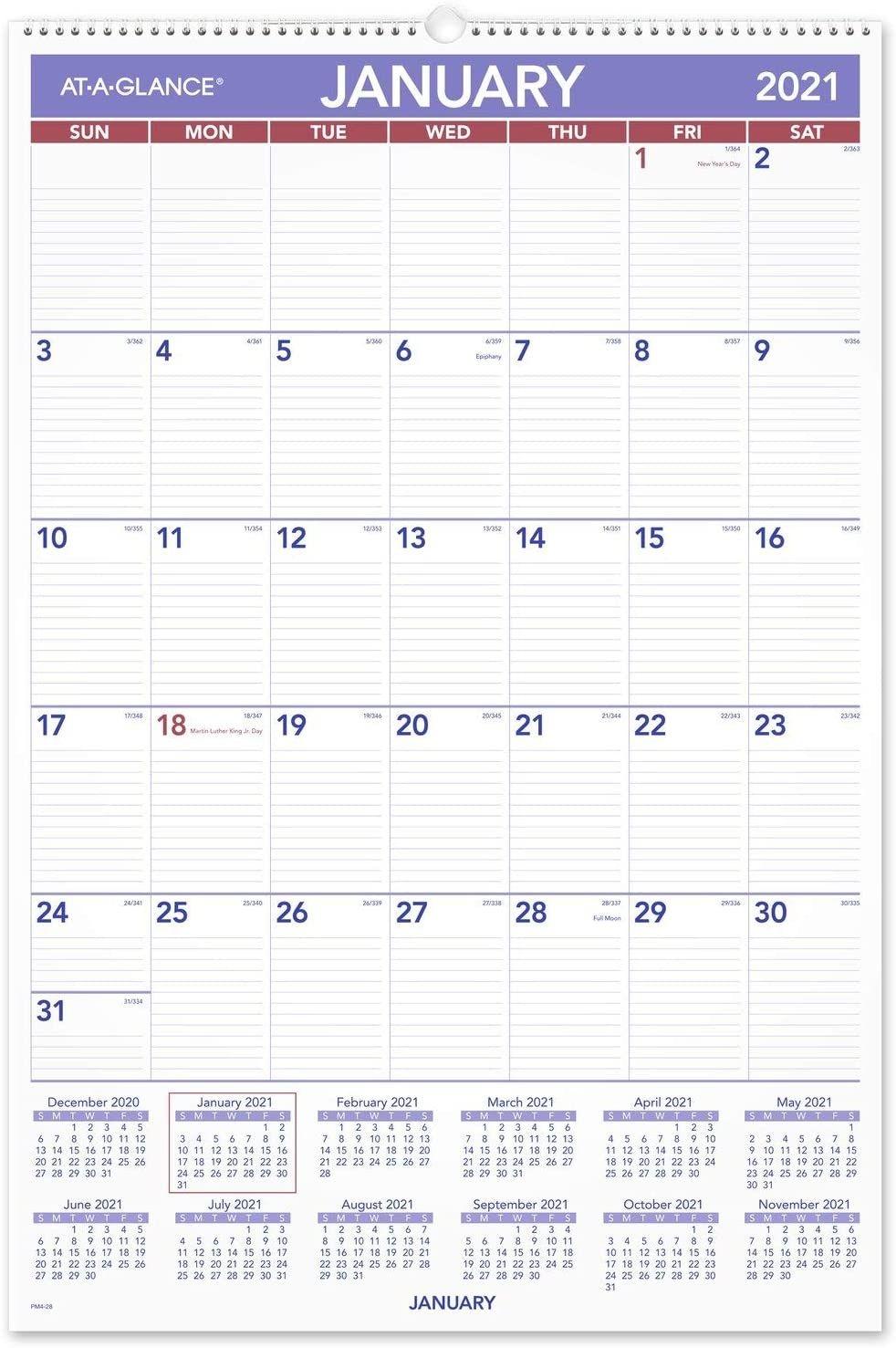 2021 Wall Calendarat A Glance, 20 X 30 , Extra Large