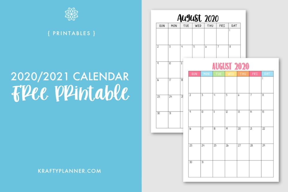 2021 Year At A Glance Free Printable — Krafty Planner