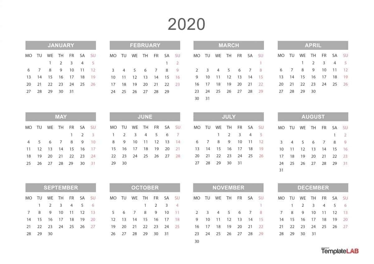 2021 yearly calendar with boxes | calendar template printable