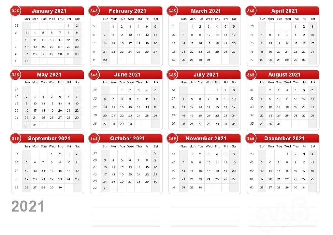2021 yearly write in calendars   month calendar printable