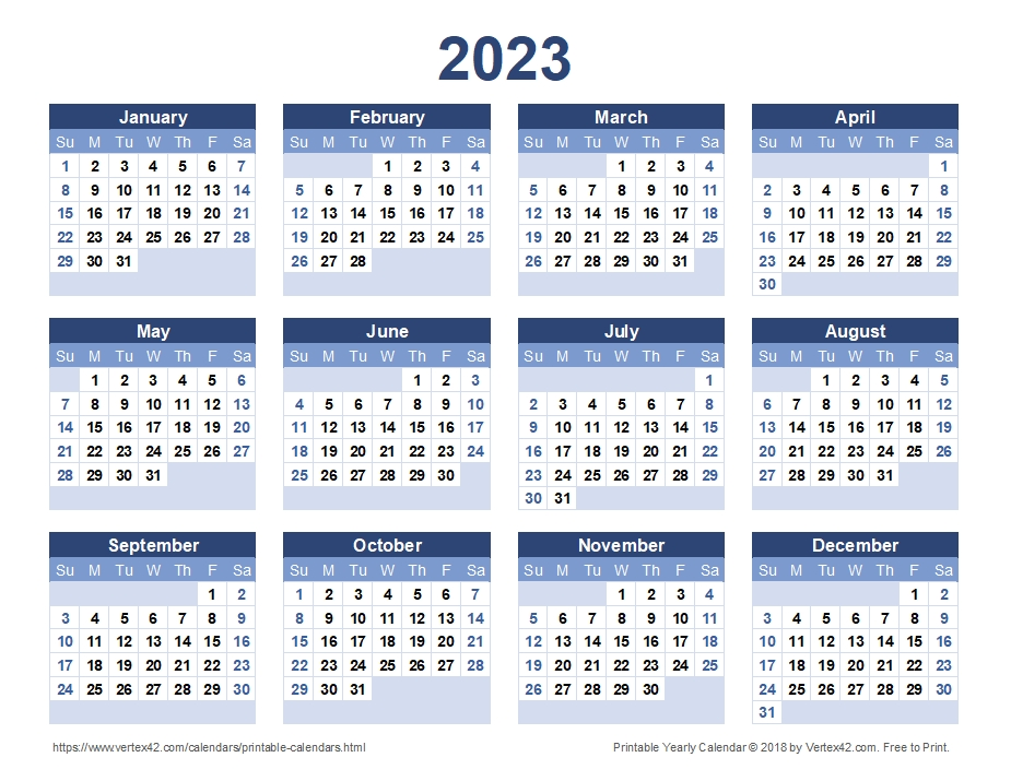 2023 Calendar Templates And Images