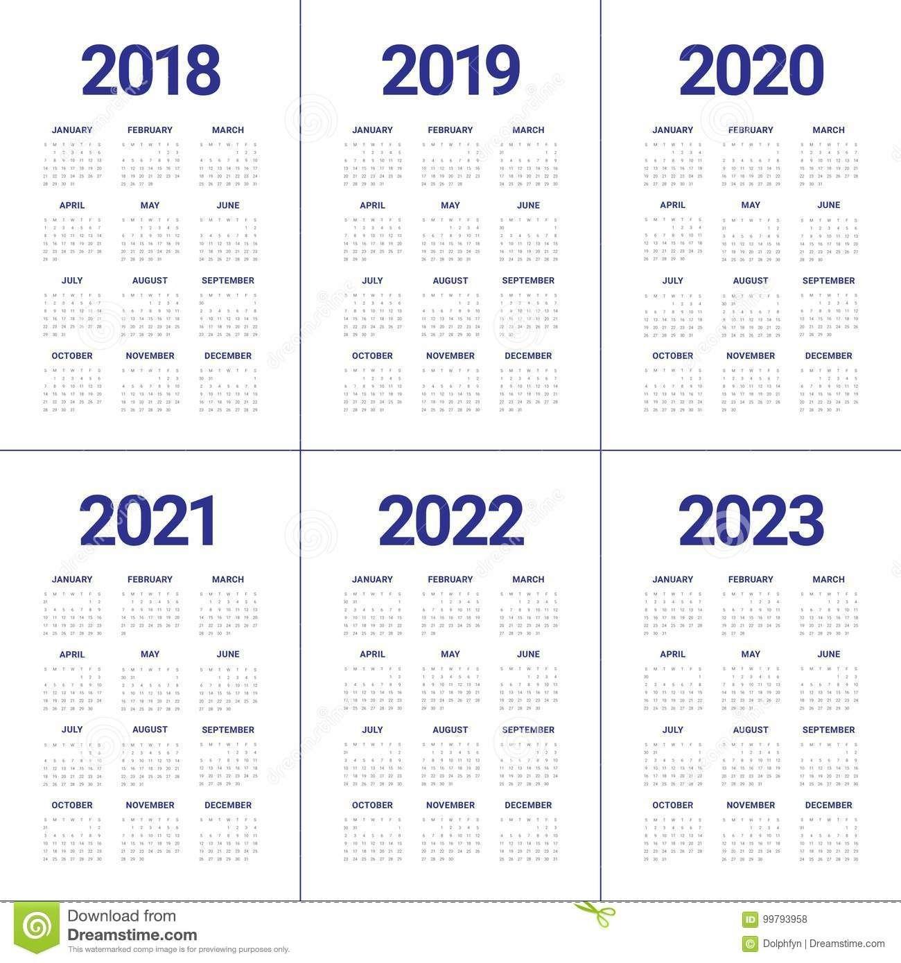 3 Year Calendar 2021 To 2023 | Calendar Printables Free Blank