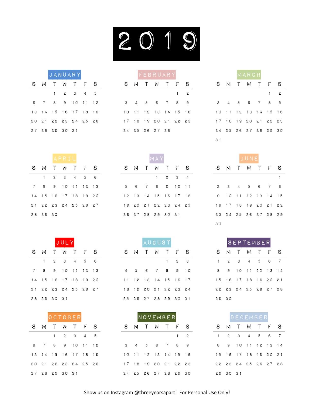 3 Year Calendar At A Glance | Calendar Printables Free