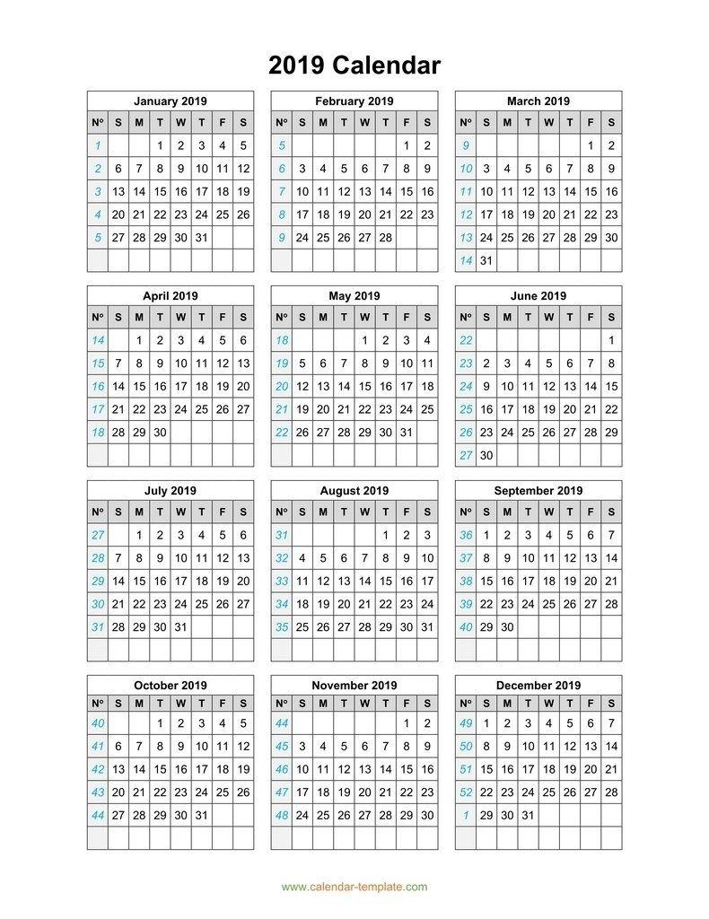 3 Year Calendar On One Page | Month Calendar Printable
