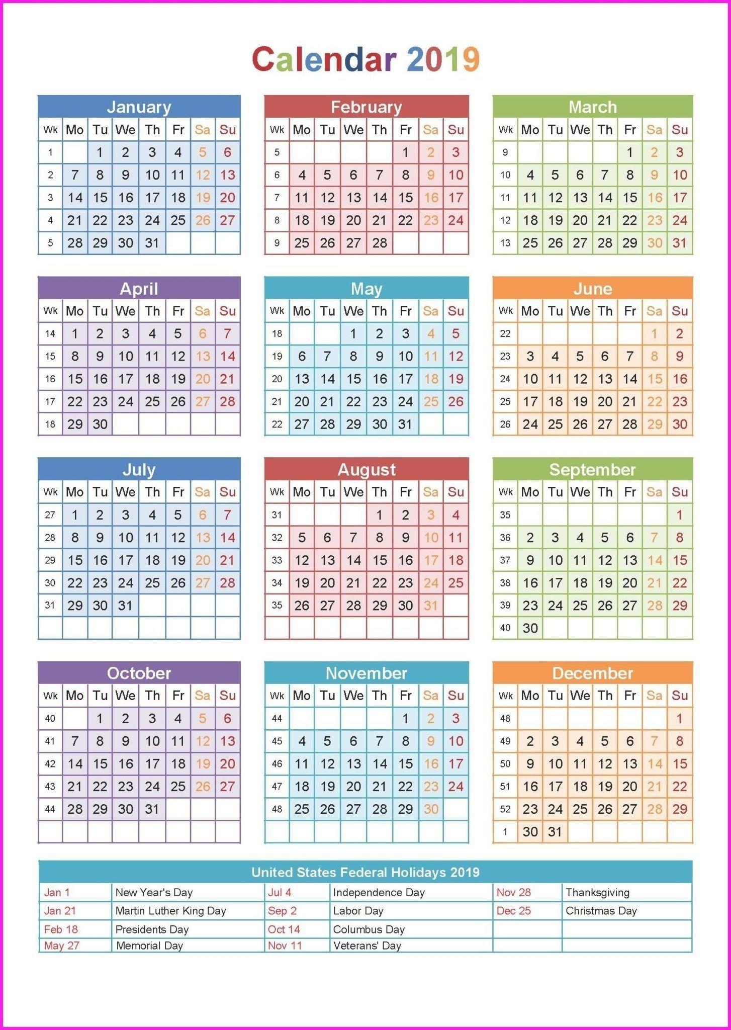 3 Year Calendar On One Page | Ten Free Printable Calendar