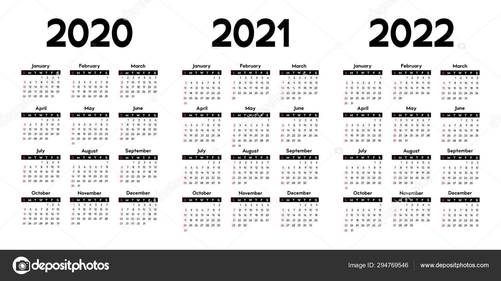 3 Year Calendars 2021 2022 2023 Free Printable | Calendar