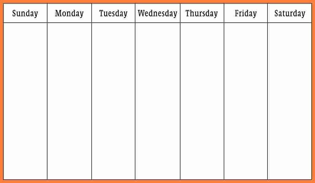 30 7 Day Week Schedule Template In 2020 (with Images
