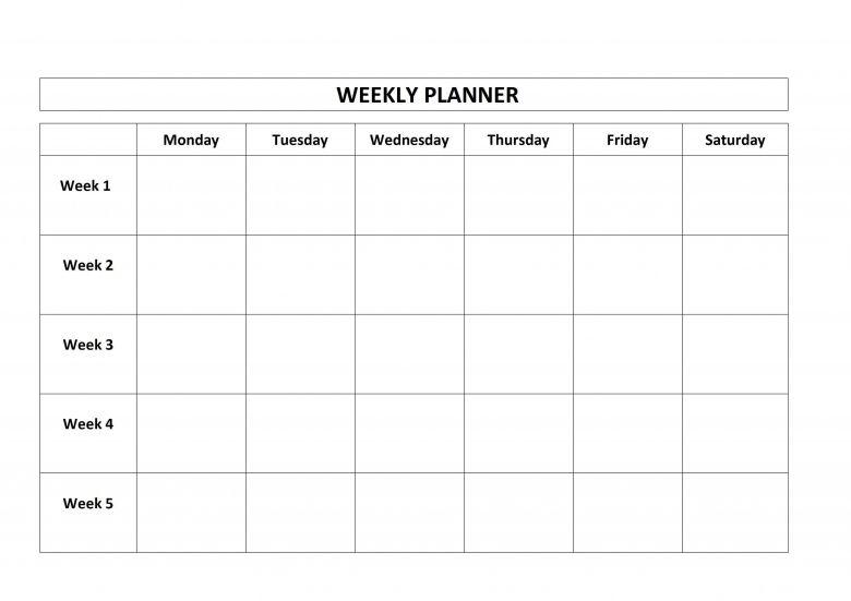 4 week calendar template blank : free calendar template
