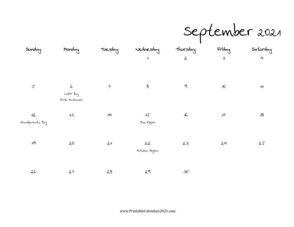 40 september 2021 calendar printable, september 2021