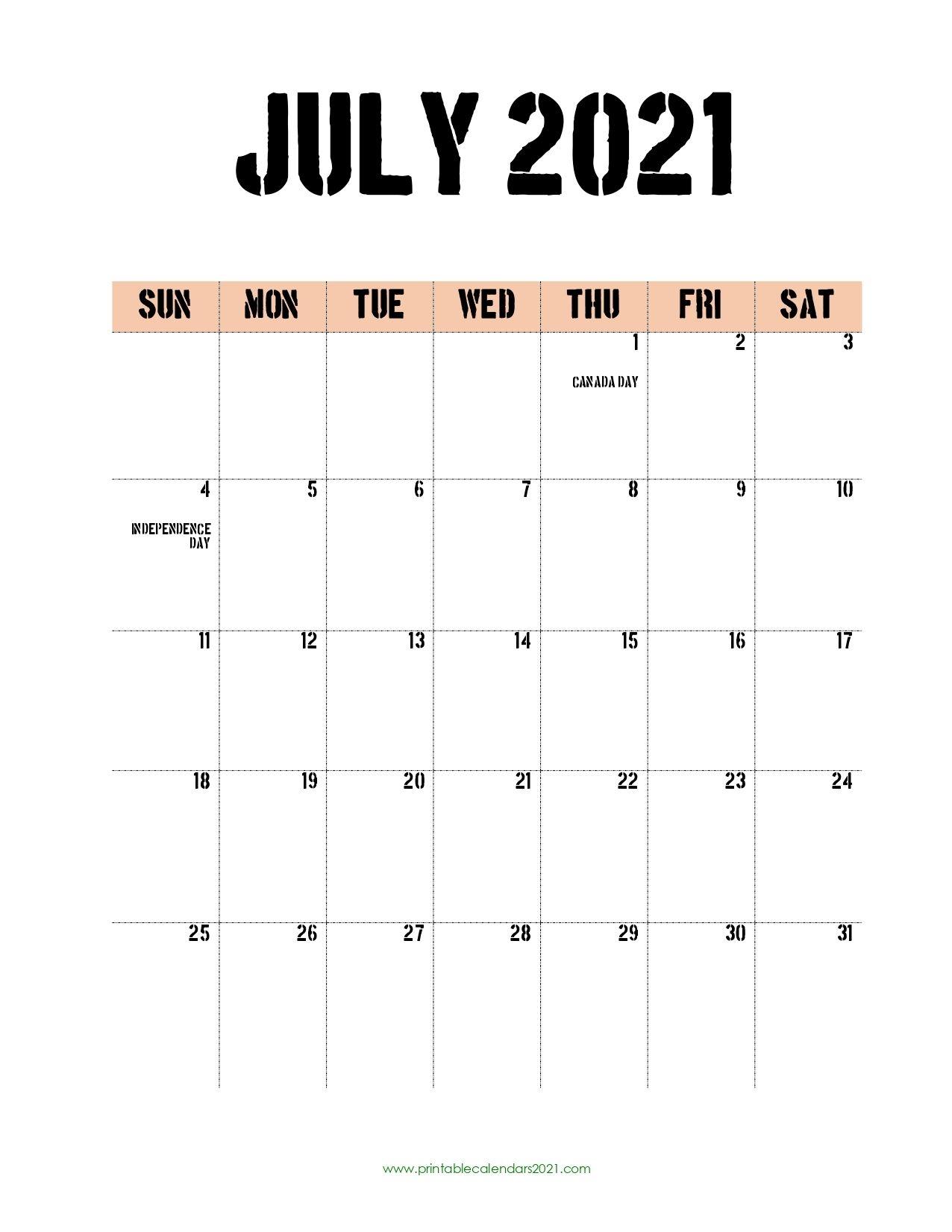45 july 2021 calendar printable, july 2021 calendar pdf