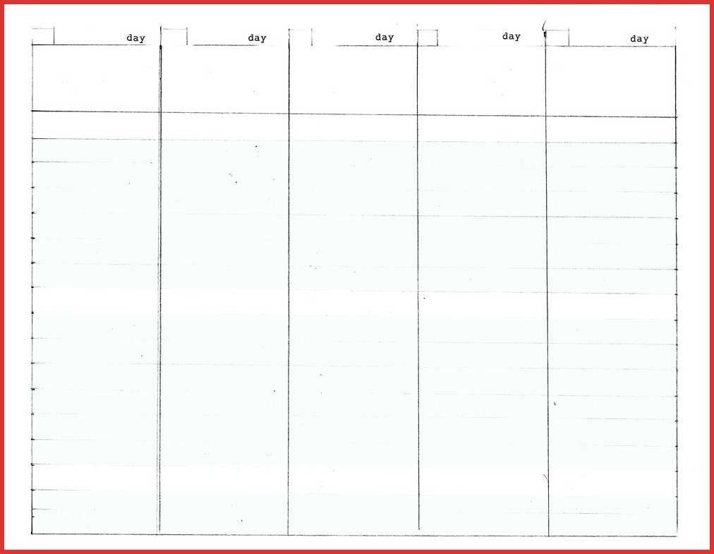 5 day template calendar blank | example calendar printable