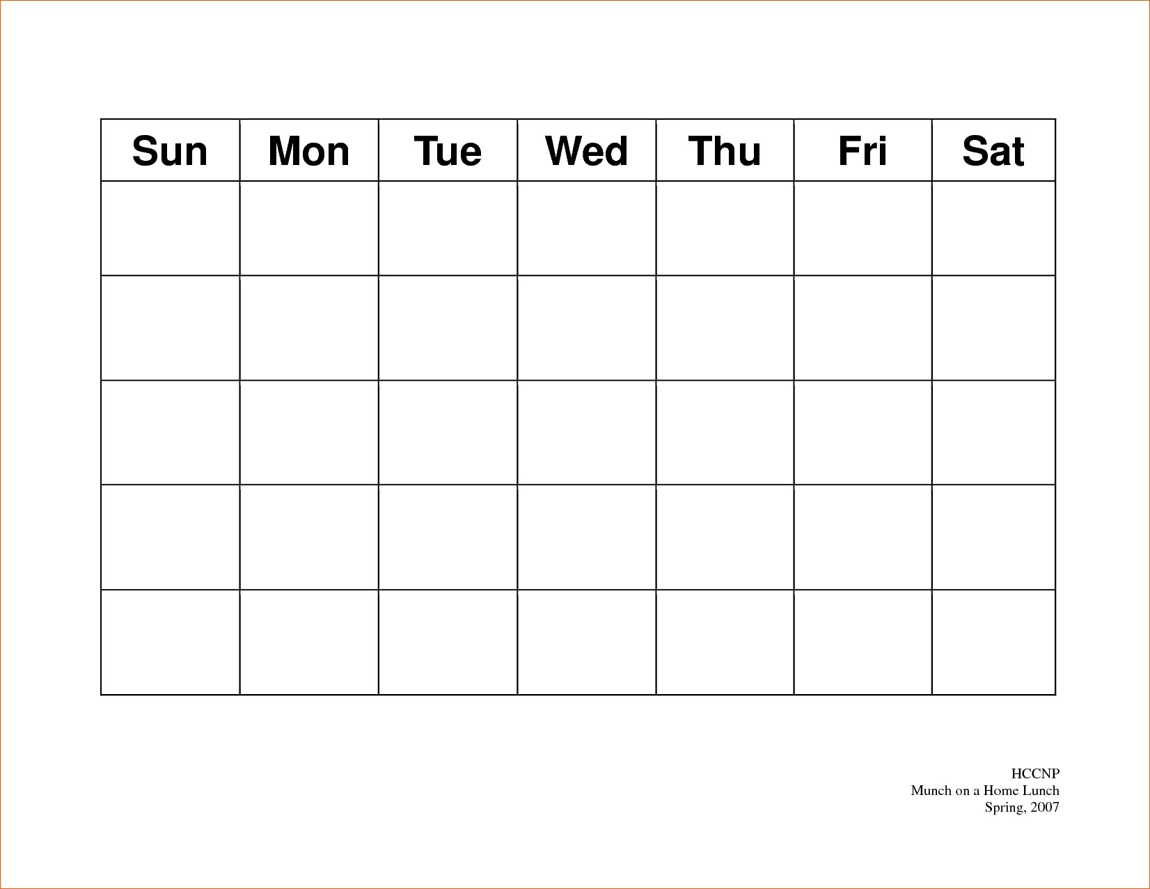 5 day week calendar template | example calendar printable
