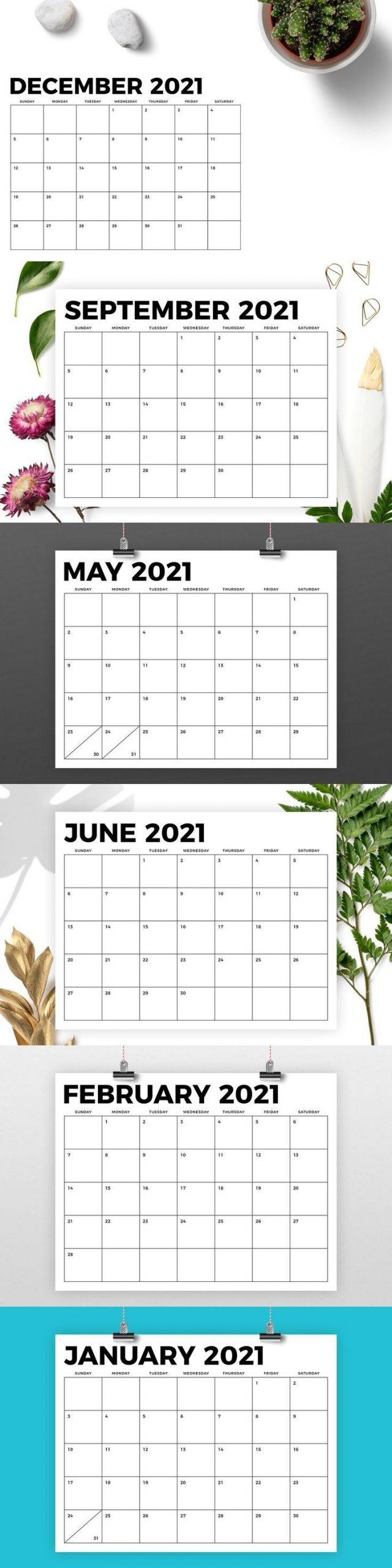 8 5 X 11 Inch Bold 2021 Calendar In 2020 | Calendar