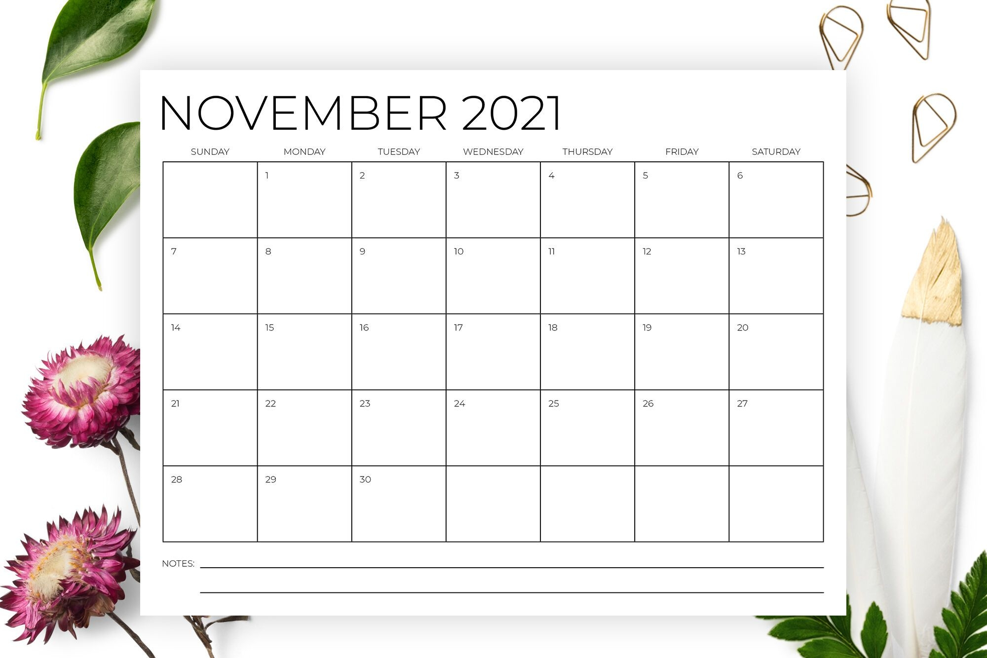 8 5 X 11 Inch Minimal 2021 Calendarrunning With Foxes