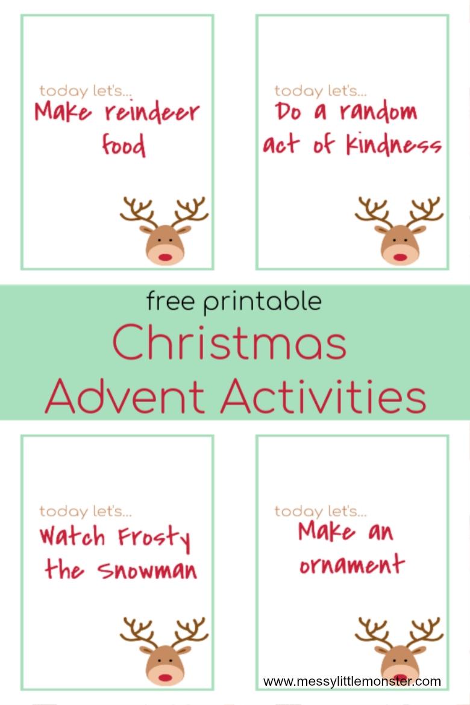 Advent Calendar Ideas 30 Printable Advent Activities For