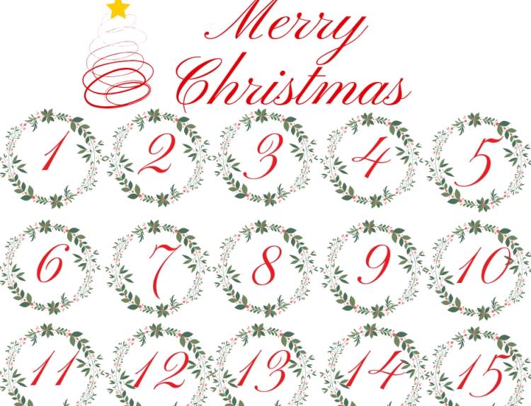 advent calendar printable tags | printable advent calendar