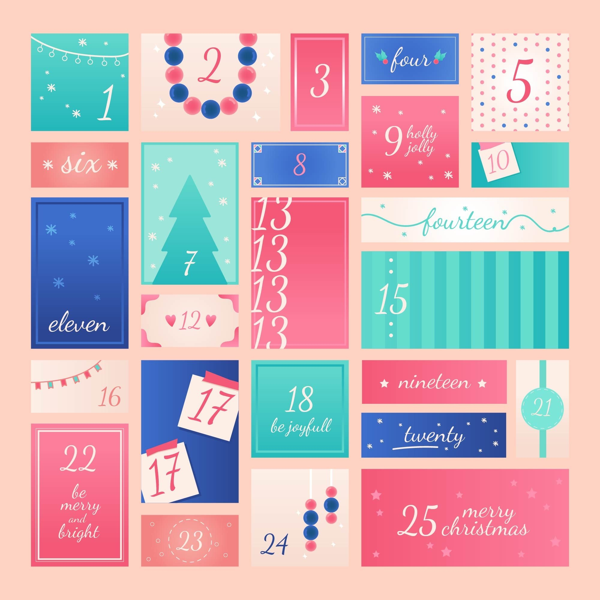 Advent Calendar Printable Vector 256244 Download Free
