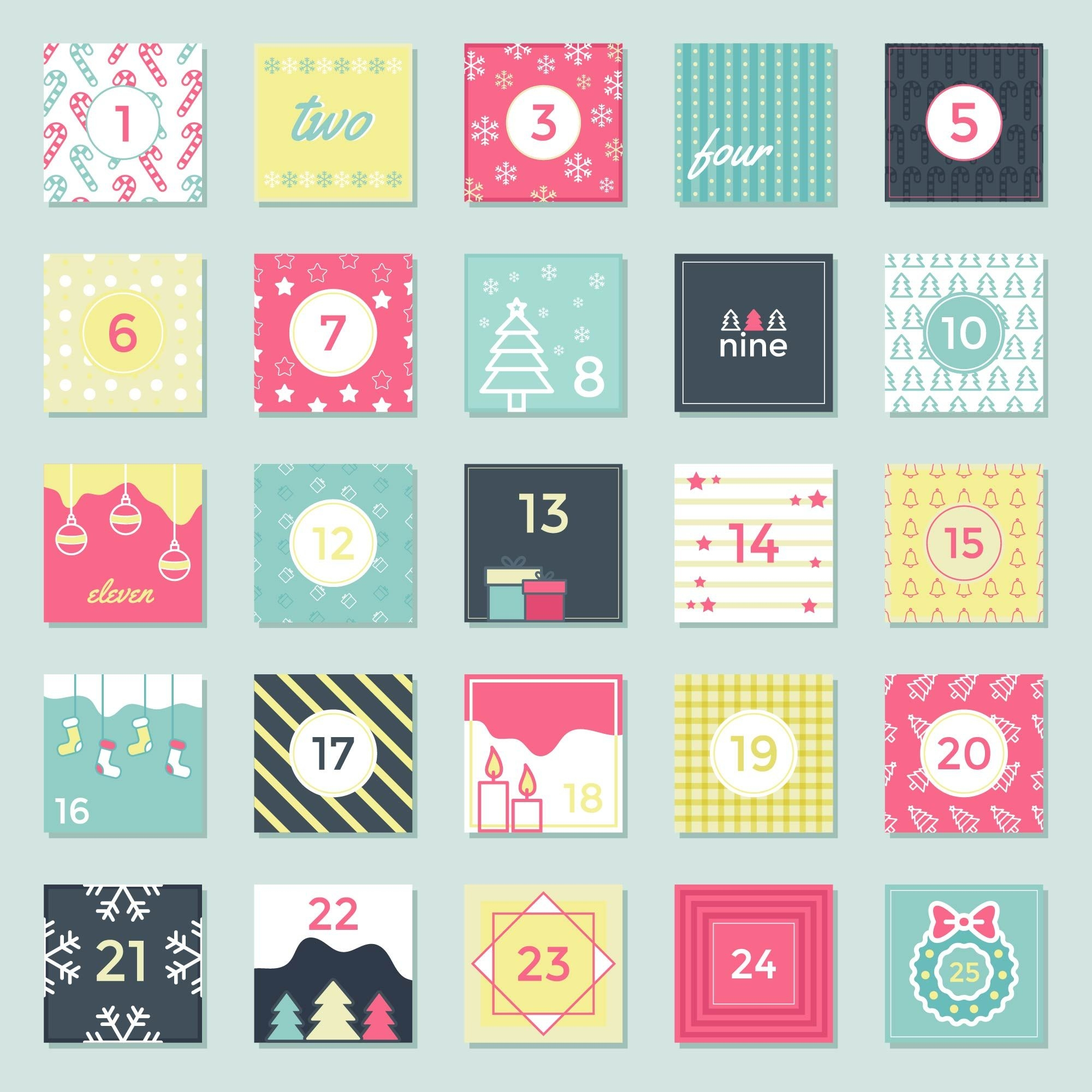 Advent Calendar Printable Vector Download Free Vectors