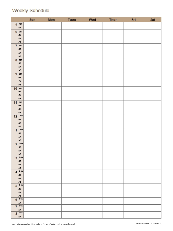 Affordable Templates: Timesheet Template 15 Minute Increments