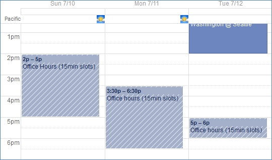Appointment Slots: Google Calendar Technology For Academics