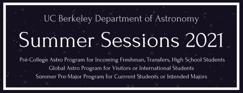 astronomy summer program 2021 astronomy department
