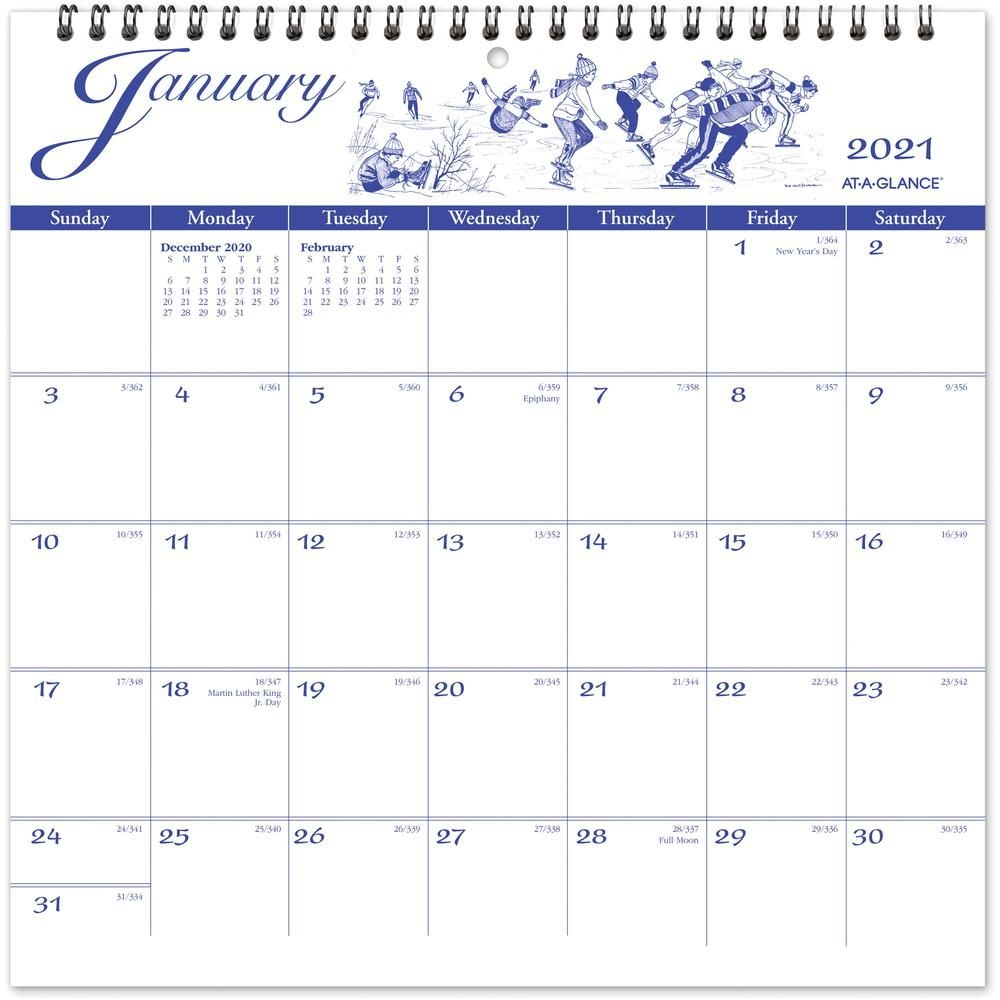At A Glance Illustrators Edition Monthly Wall Calendar