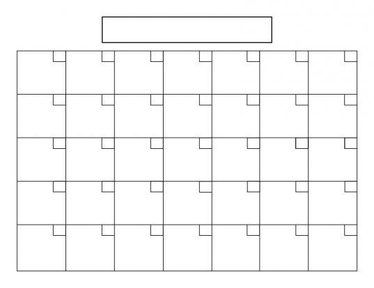 Blank Calendar 5 Day Week | Printable Calendar Template 2020