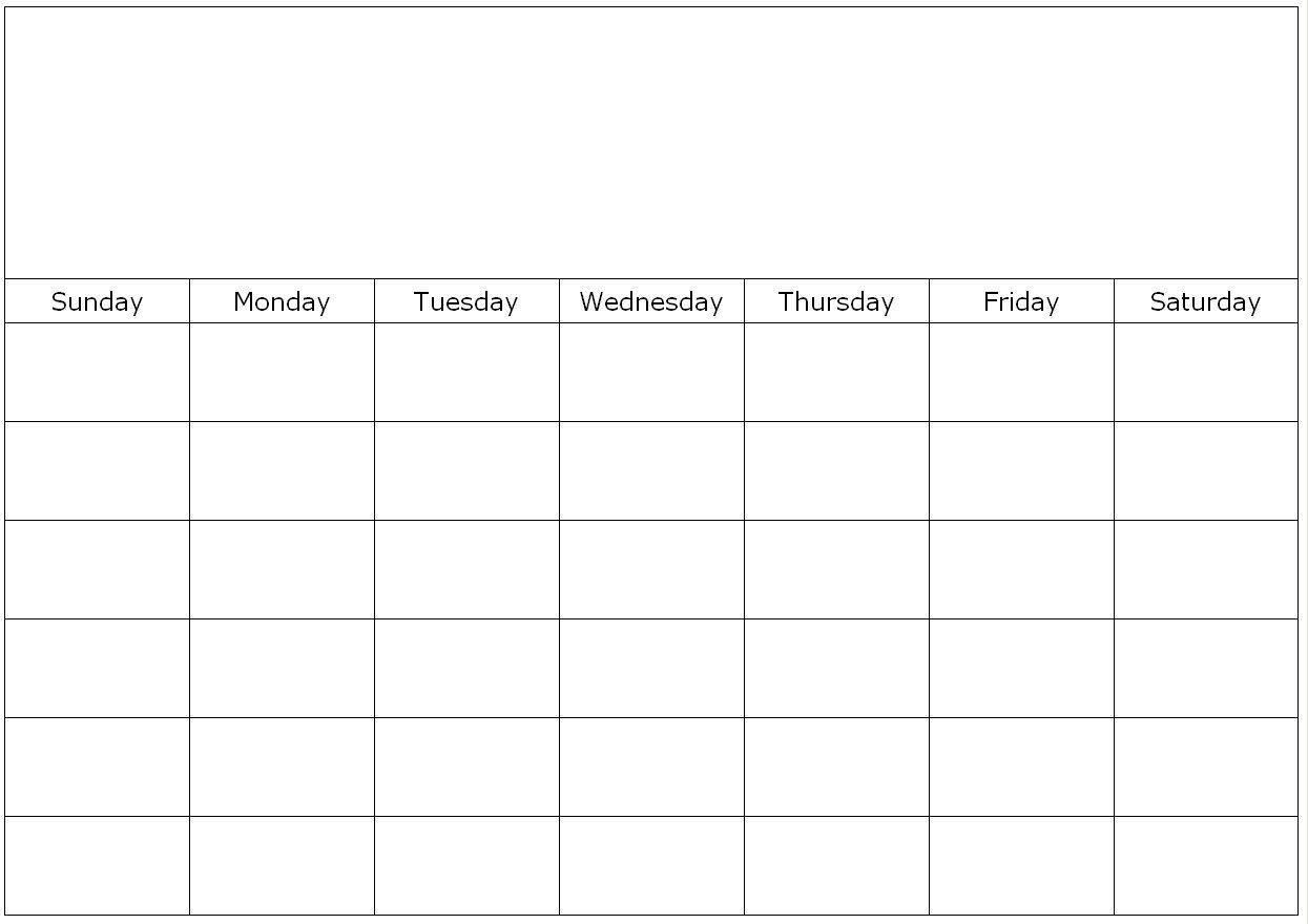 blank calendar page monday to friday | calendar template