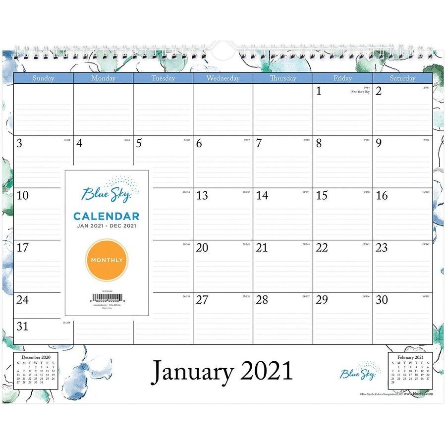 Blue Sky Lindley Wall Calendar Julian Dates Monthly