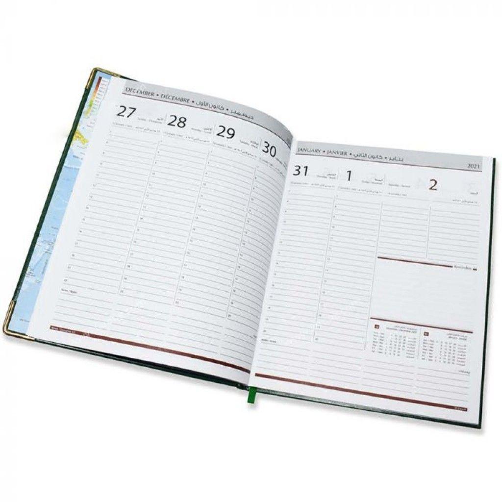 buy online fis executive diary 2021 green (arabic/english