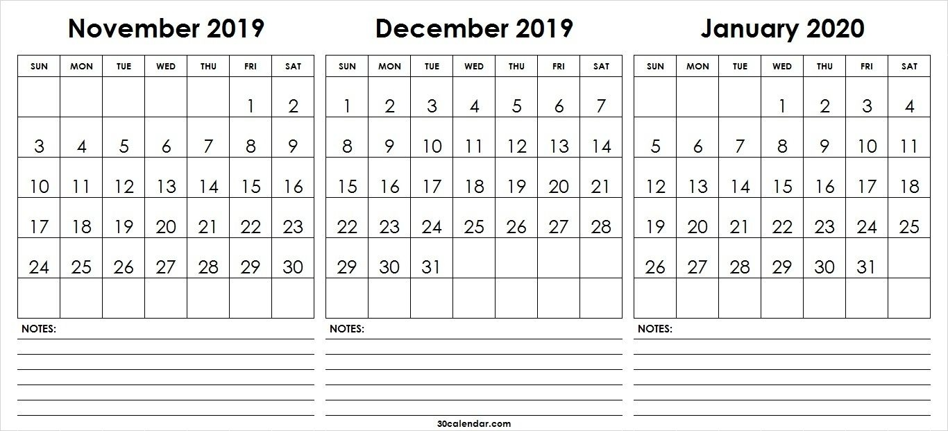 calendar 2020 november december   calendar printables free