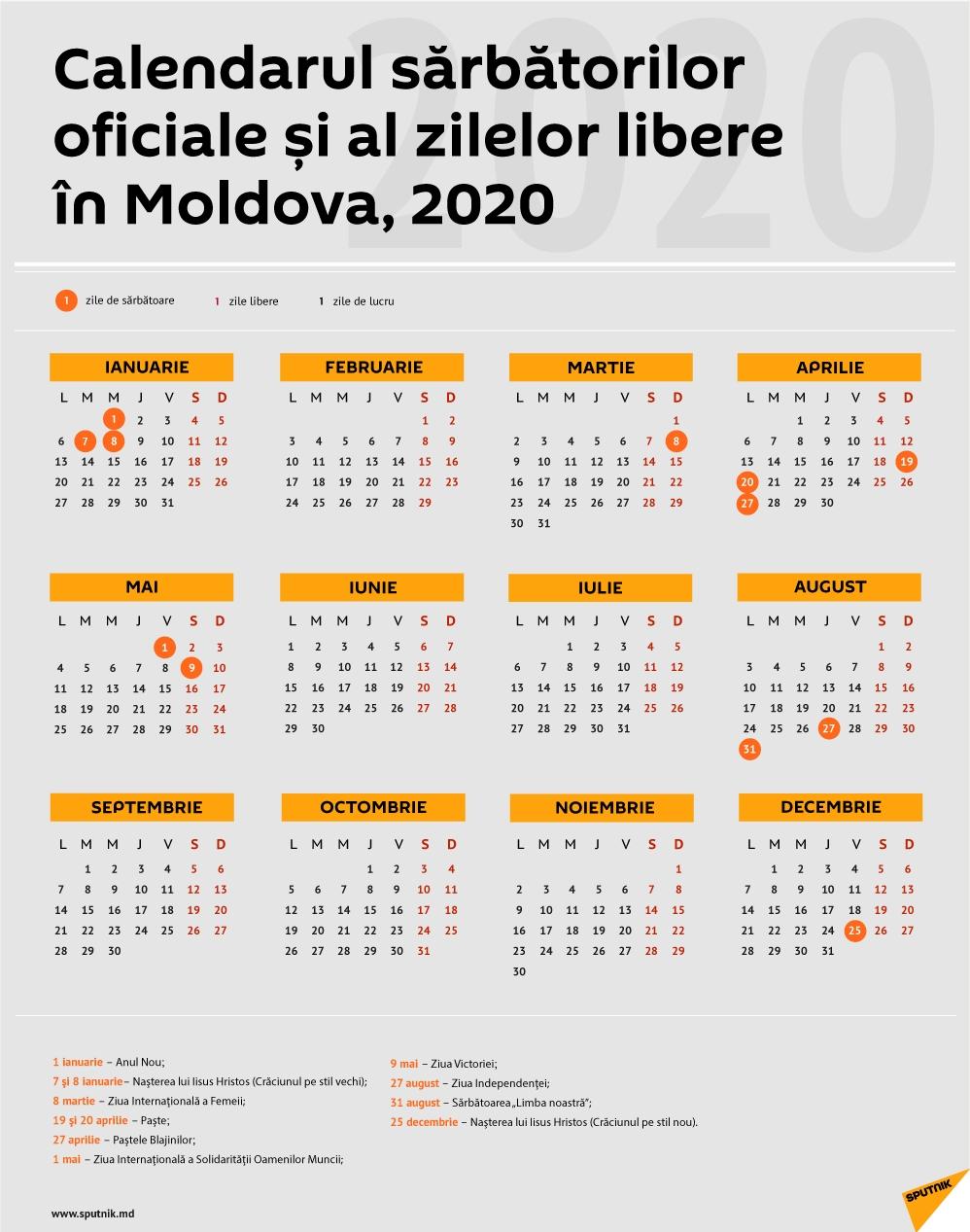 Calendar 2020 Zile Libere | Calendar Printables Free Templates