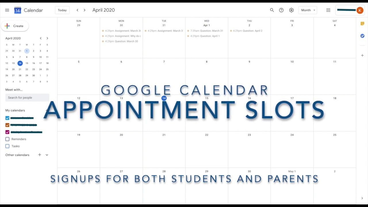 Calendar Appointment Slots Youtube