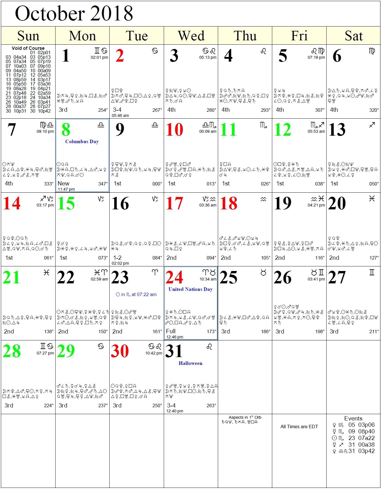 Calendar Dates Of Zodiac Signs | Ten Free Printable