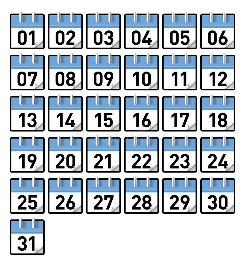 Calendar Days Stock Vector Illustration Of July, Monday
