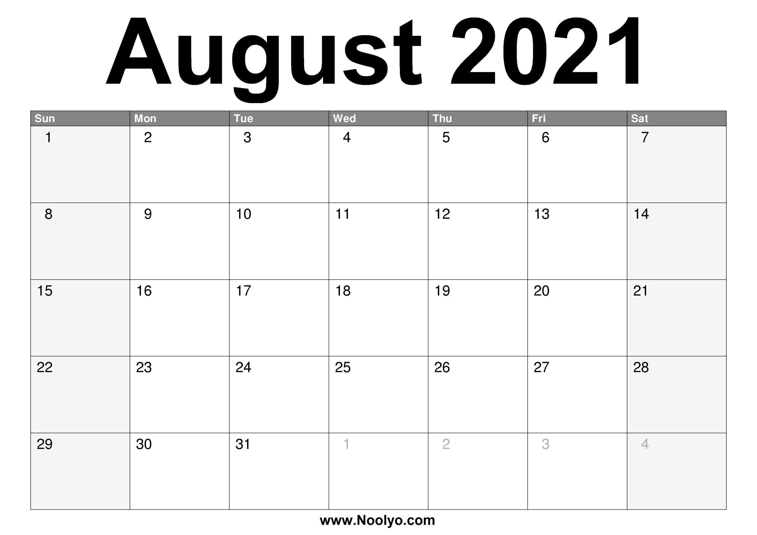calendar of august 2021 | printable calendars 2021