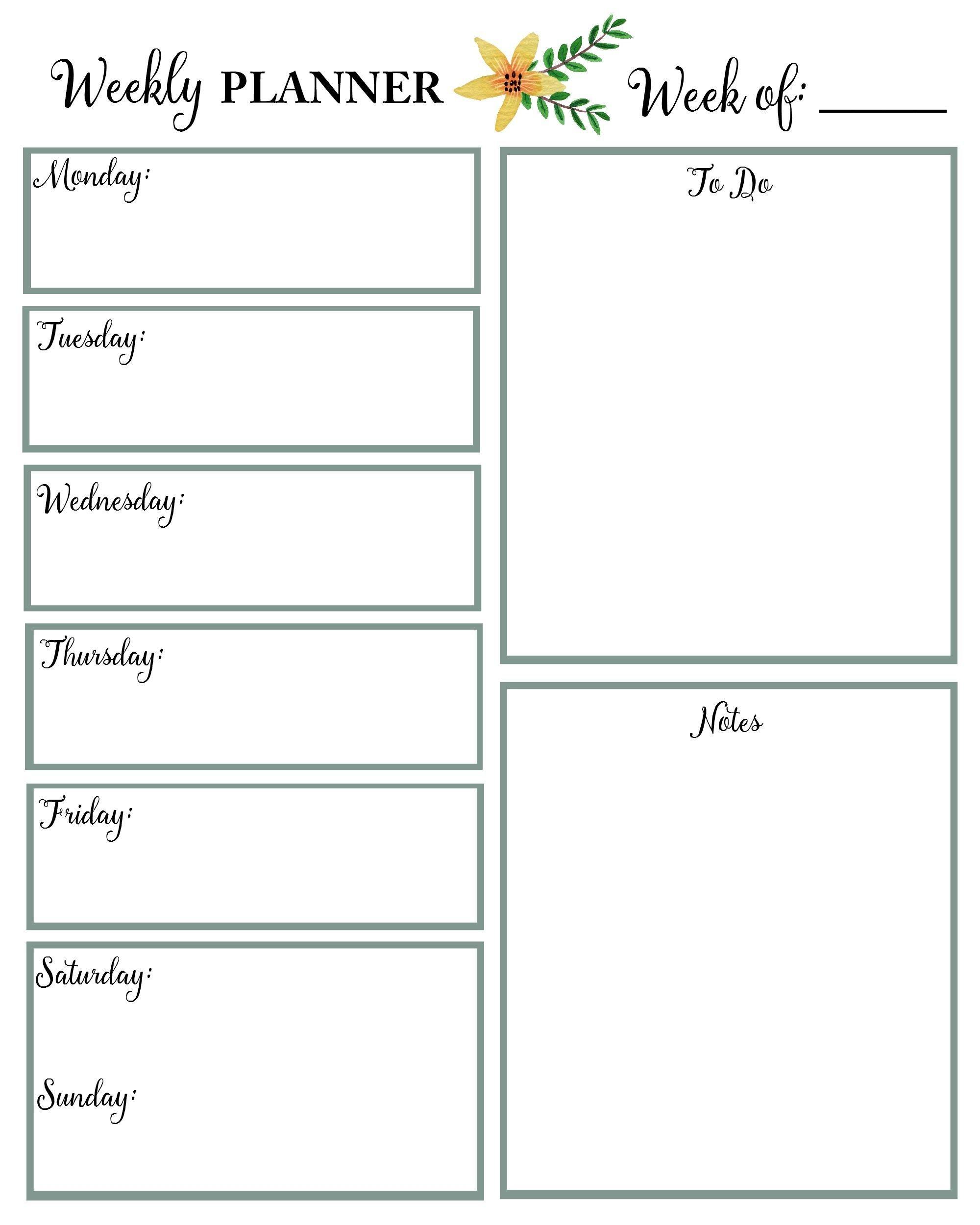 Calendar Week At A Glance | Calendar Printables Free Templates